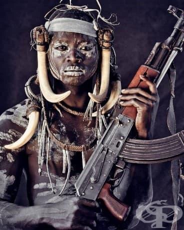 Племето Мурси; Местоположение: Етиопия