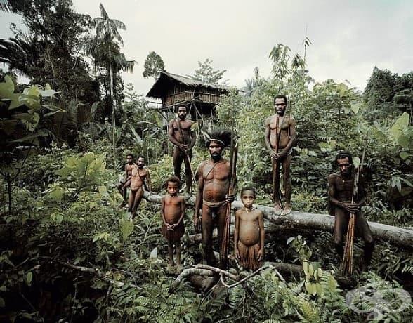 Племето Короуай; Местоположение: Индонезия + Папуа Нова Гвинея