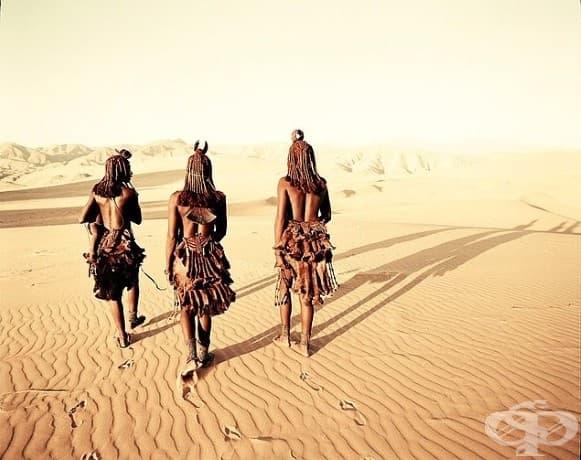 Племето Химба; Местоположение: Намибия