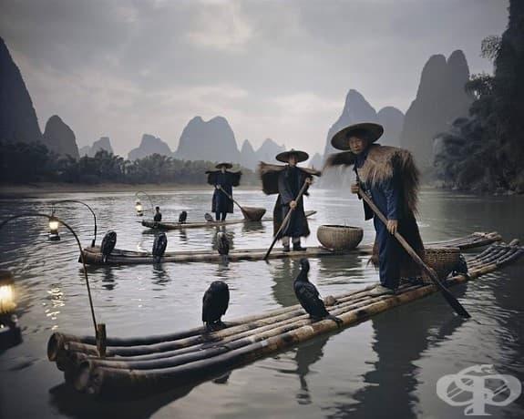 Китайкото племе риболовци; Местоположение: Гуанси, Китай