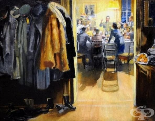 """Юрий Пименов, """"Нова година"""", 1949"""