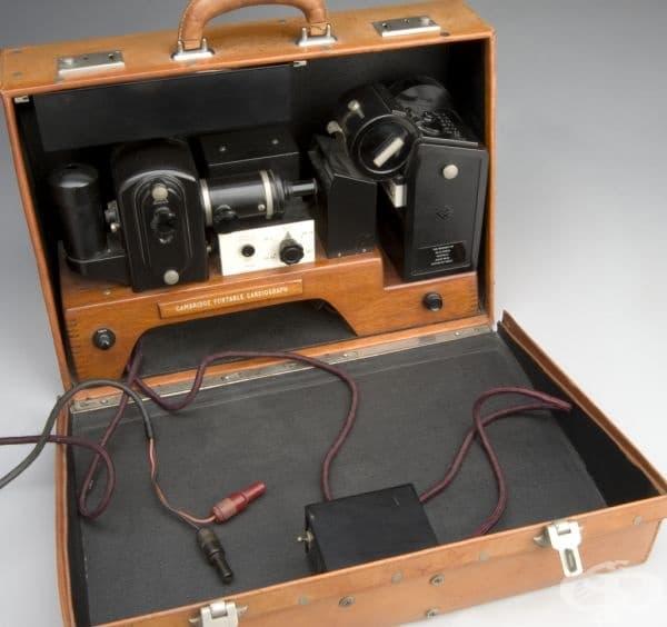 Преносим електрокардиограф от 1946 година