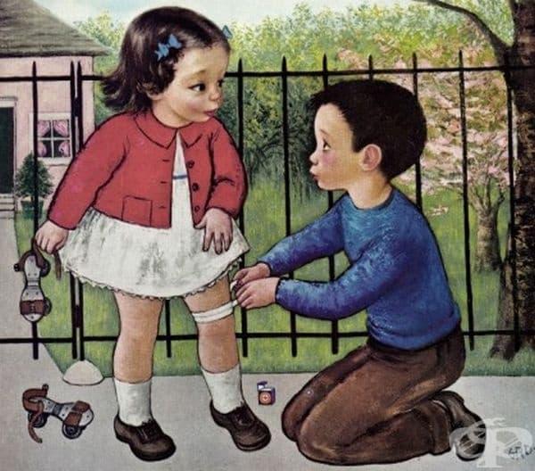 """Рекламни постери на продукти на """"Джонсън и Джонсън"""" от 40-те и 50-те години на 20-ти век"""