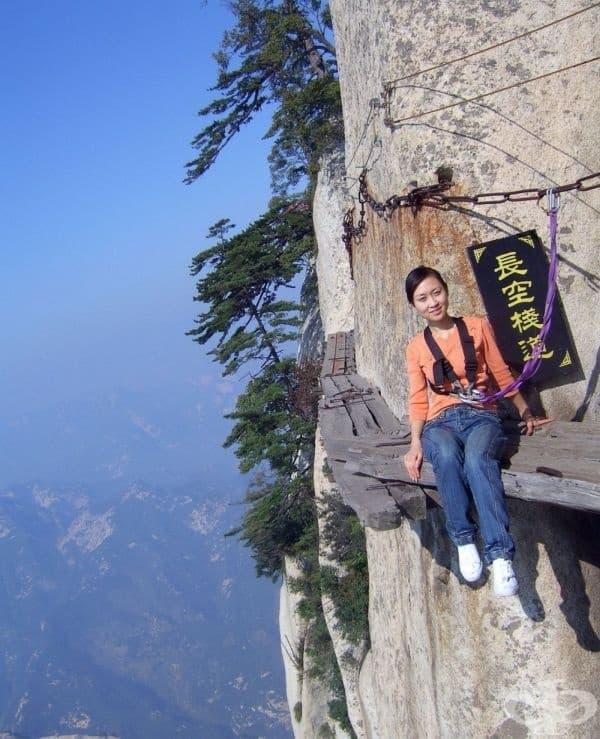 Пътят на смъртта (височина 2130 метра), Китай.