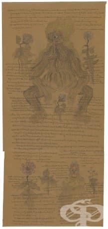 Рисунки от Чарлз Щефан, изобразяващи неговите мании, рисувани в психиатрична клиника през 1950.