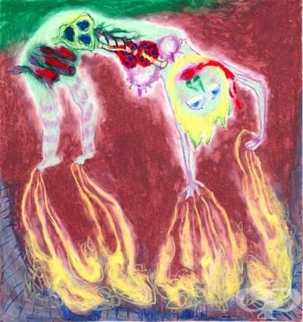 Тази рисунка е създадена от Карън Блеър през 1929 г., докато е в болницата.
