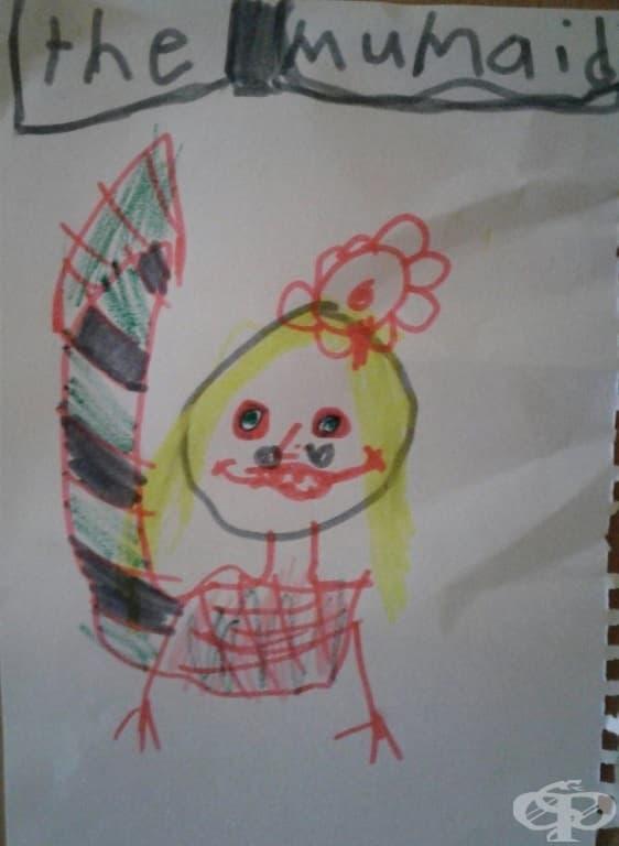 """""""Дъщеря ми нарисува това и го сложи на стената ми в спалнята. През нощта не успях да спя много."""""""