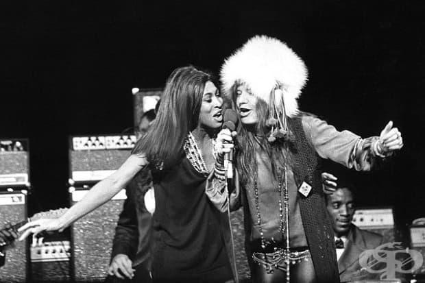 Тина Търнър и Джанис Джоплин в Медисън Скуеър Гардън, Ню Йорк, 1969 г.