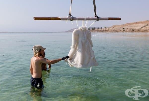 Вижте какво се случва с рокля, потопена в Мъртво море
