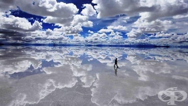 Езерото Салар де Уюни, Боливия.