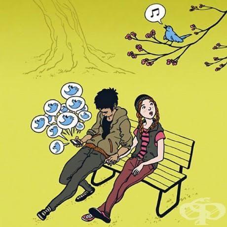 15+ сатирични илюстрации, които показват нашата зависимост от технологиите