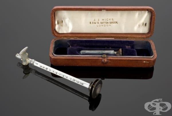 Сфигмоманометър на Бърнард-Хил от 1886 година