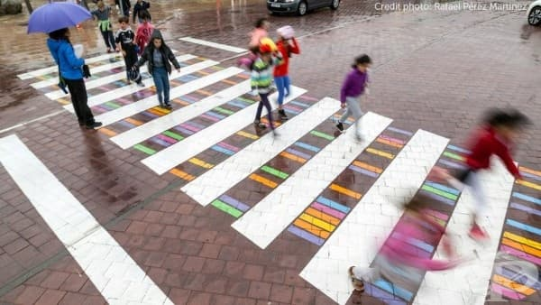Българин преобразява пешеходните пътеки в Мадрид