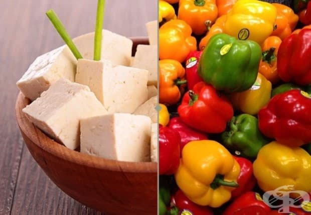 Желязо и витамин C. Чушките са богати на витамин С. За да се освободи желязото, което се съдържа в соевите продукти, може да комбинирате тофу с чушки.