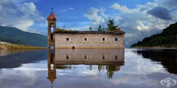 Потопена църква в Маврово, Македония