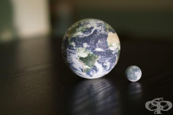 Глобуси на Земята и Луната