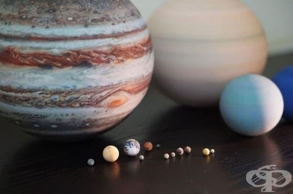 3D-принтирани планети, луни и Слънчевата система, които можете да поставите на масата си