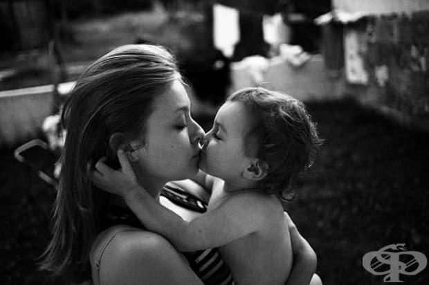 Първа целувка.