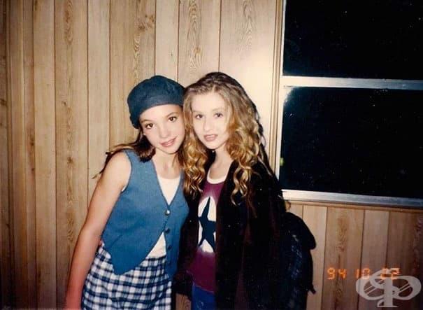 13-годишната Бритни Спиърс и 14-годишната Кристина Агилера.