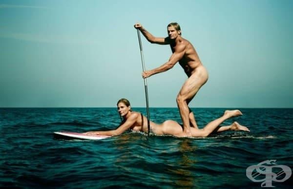 Габриеле Рийс, плажен волейбол и Леърд Хамилтън, сърфинг