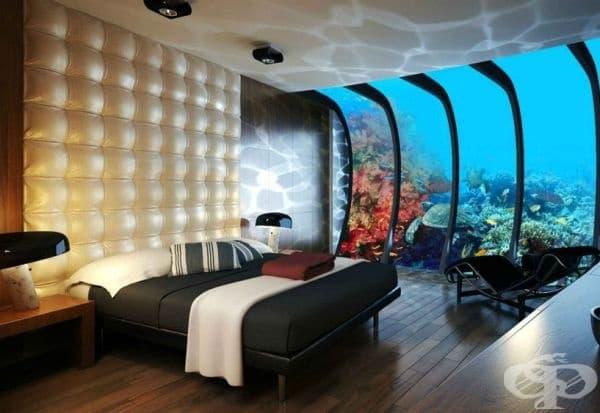 Стая в подводен хотел, Дубай.