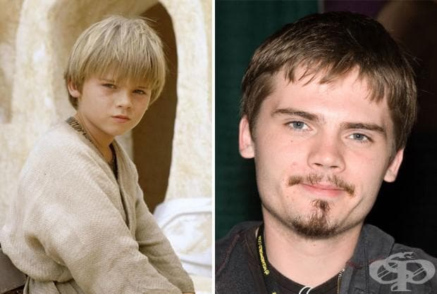 Джейк Лойд (младият Анакин Скайуокър), 1999 и 2015 г.