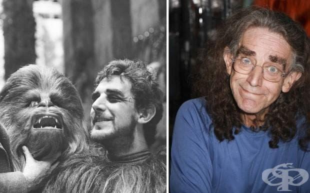 Питър Мейхю (Чубака) 1977 г. и 2015 г.