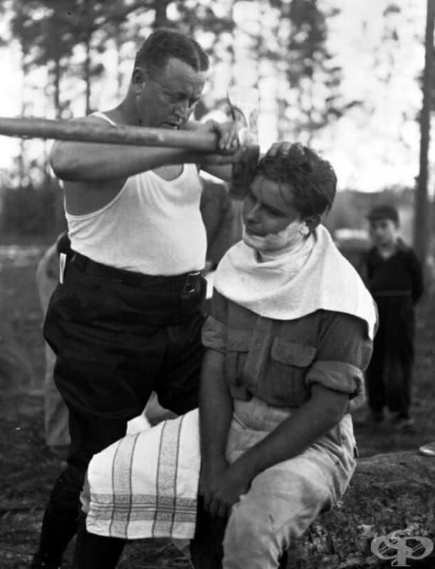 Ето как се бръснат истинските мъже, 1940 г.