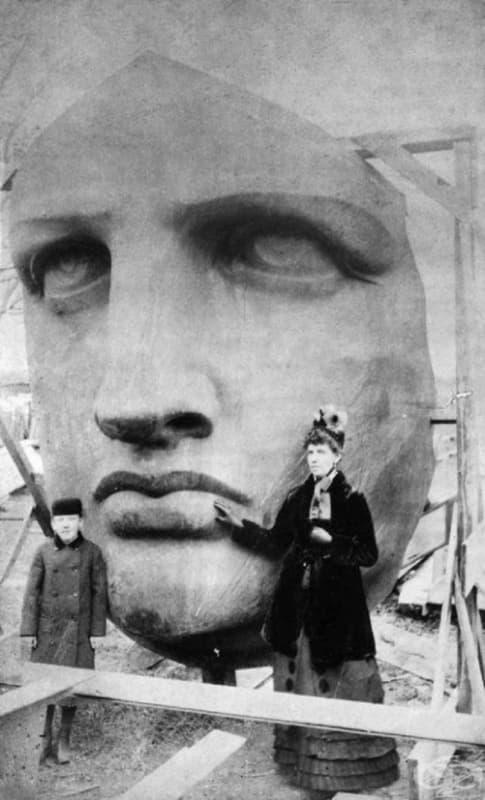 Разопаковане на статуята на свободата, 1885 г.