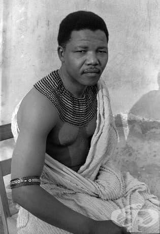 Младият Нелсън Мандела през 1961 г.