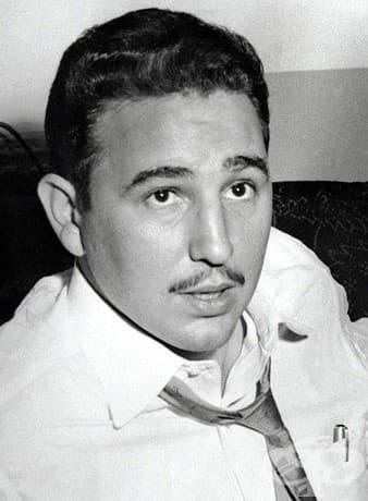 Портрет на Фидел Кастро в Ню Йорк през 1955 г. по време на интервю