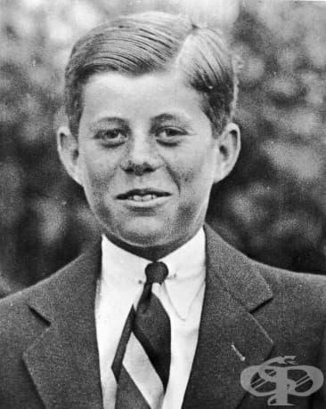 Джон Ф. Кенеди на 10-годишна възраст, 1927 г.