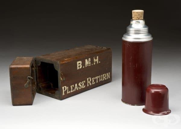Термос, използван за съхранение на пеницилин от 1943г.