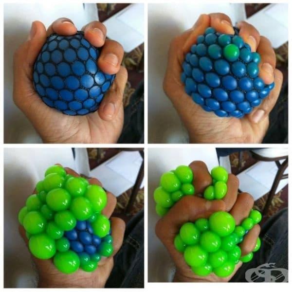 Уникална топка за стрес.