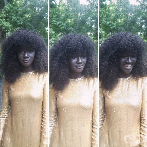 Запознайте се с Коудия, моделът с най-тъмна кожа в света
