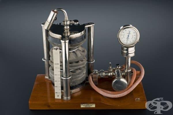 Уред за осъществяване на пневмоторакс от 1920г.