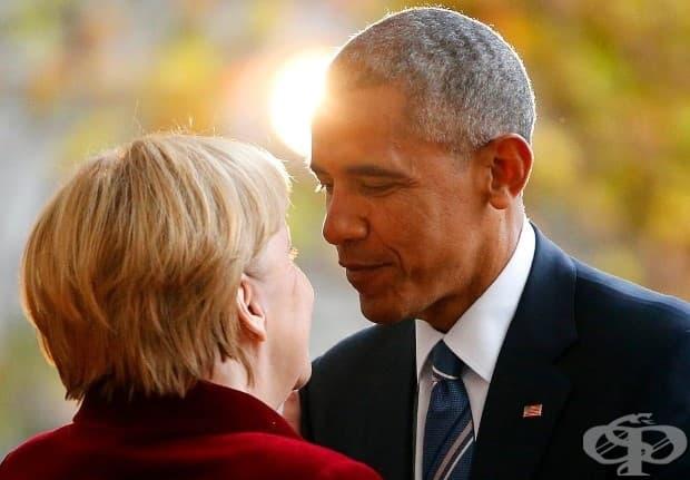 Барак Обама и Ангела Меркел се срещат за последен път по време на неговата официална длъжност в Берлин през ноември. Двойката формира тясна връзка по време на осемгодишното президентство на Обама.