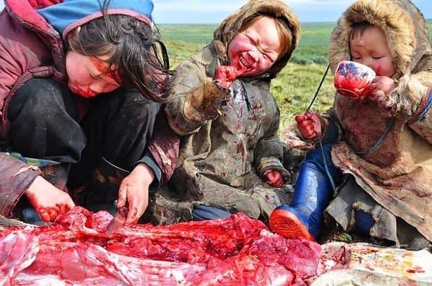 Ястие на сибирско семейство.