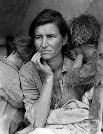 Майката мигрант - една емблематична снимка от Голямата депресия.