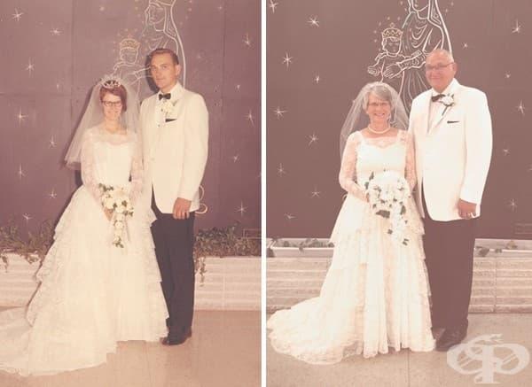 45 години по-късно роклята дори й стои по-хубаво.