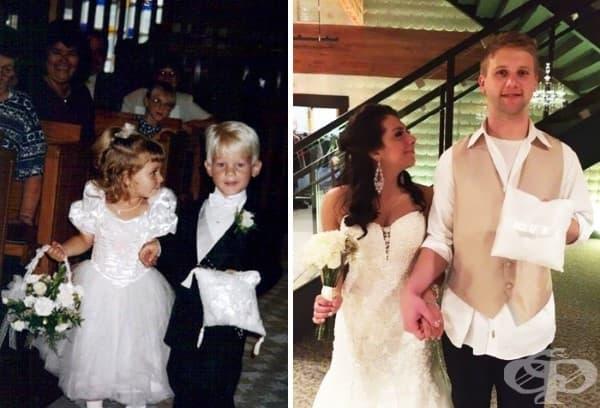 Шаферката и повелителят на пръстена се омъжват 20 години по-късно.