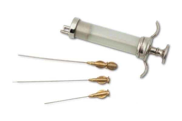 Старинен комплект за прилагане на местна анестезия