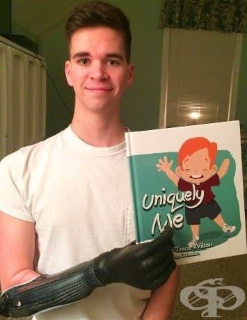 ''Днес държах детската си книжка с дясната с ръка за първи път.''