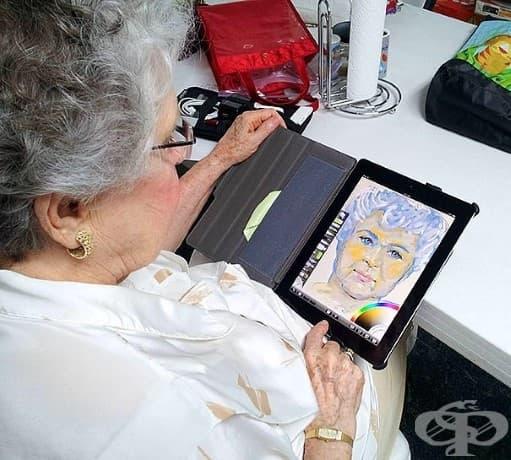 Тази 84-годишната баба получава Ipad като подарък и създава това чудесно произведение с приложението за рисуване