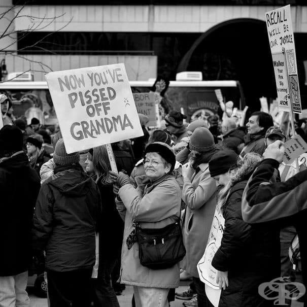 Политически протест срещу републиканците в САЩ: Вече ядосахте баба.