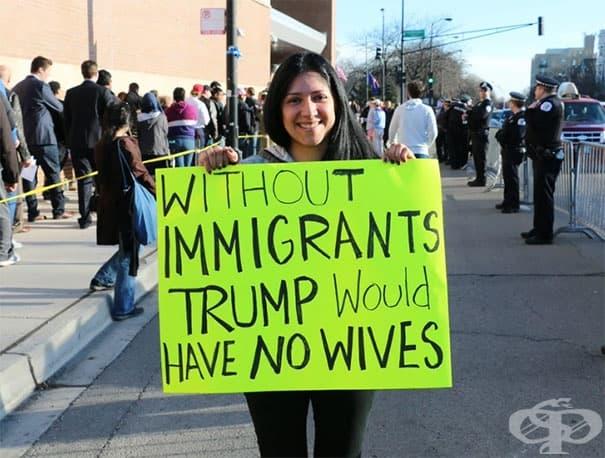 Без имигранти Тръмп нямаше да има нито една съпруга.