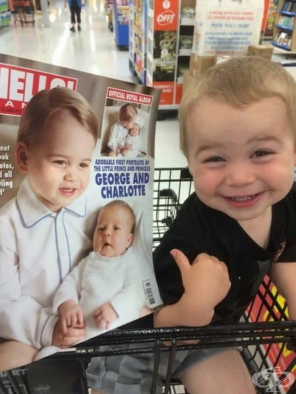 """""""Внукът ми си мисли, че е младия принц Джордж."""""""