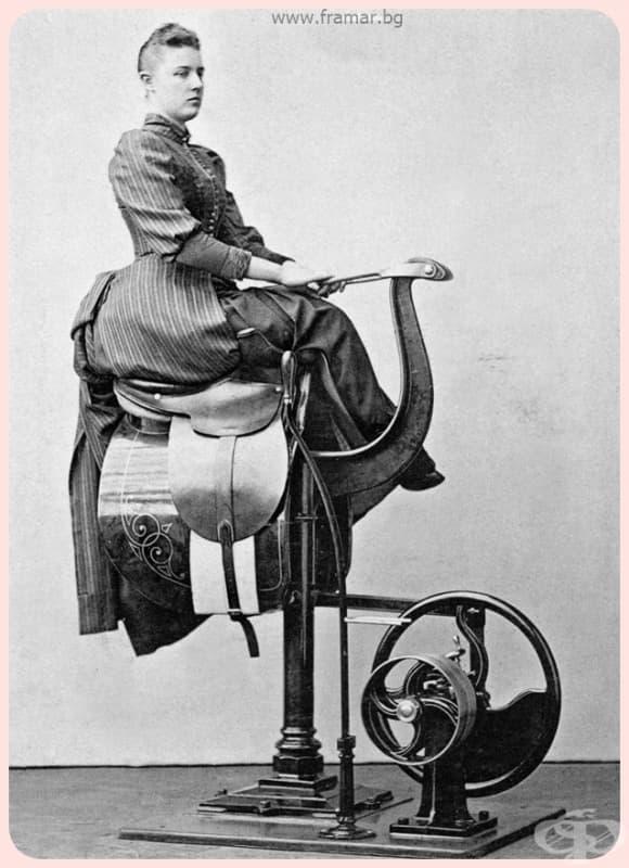 """""""За тези, които не могат или не смеят да се качат на кон, този уред вибрира и стяга тялото като на ездач."""""""