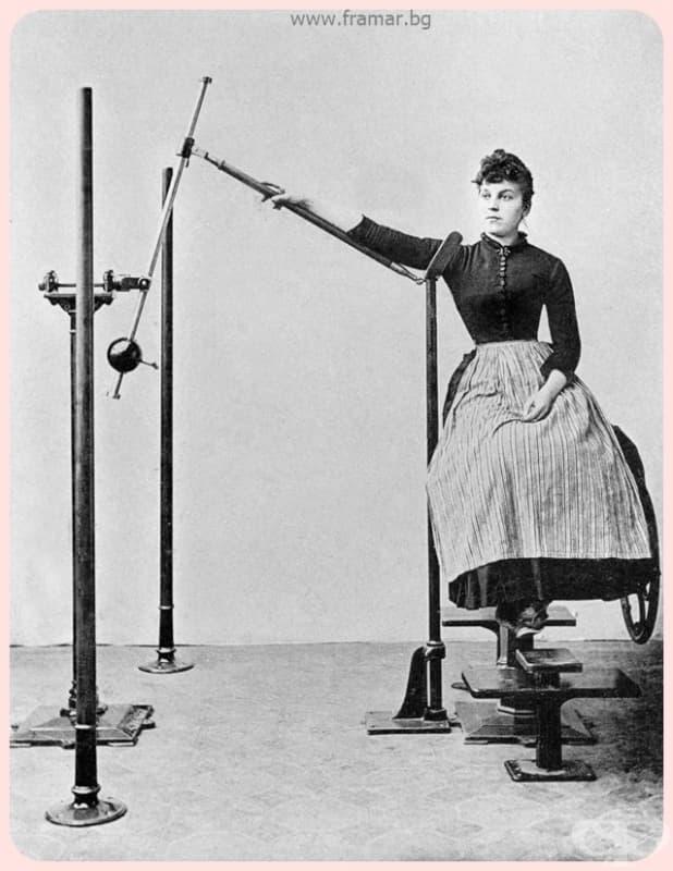 Апарат за увеличаване на силата и подвижността на раменете и ръцете.