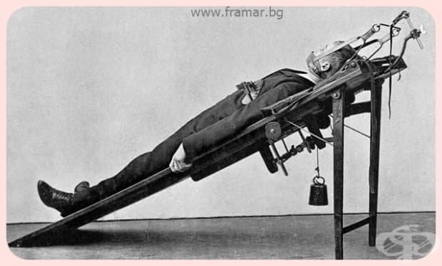 """""""Дали това е нещо от стаята за изтезания на граф Дракула? Не, това просто е уред за реорганизация на гръдния кош."""""""